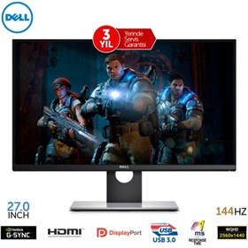 Dell 27 S2716DG Gaming Monitör 1ms 144Hz G-Sync