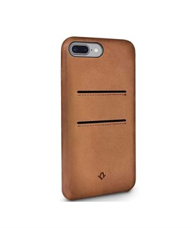 Twelve South Relaxed Leather case w/pockets - iPhone 7/8+ cognac